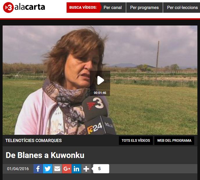 Parlem de la ONG Kuwonku a TV3