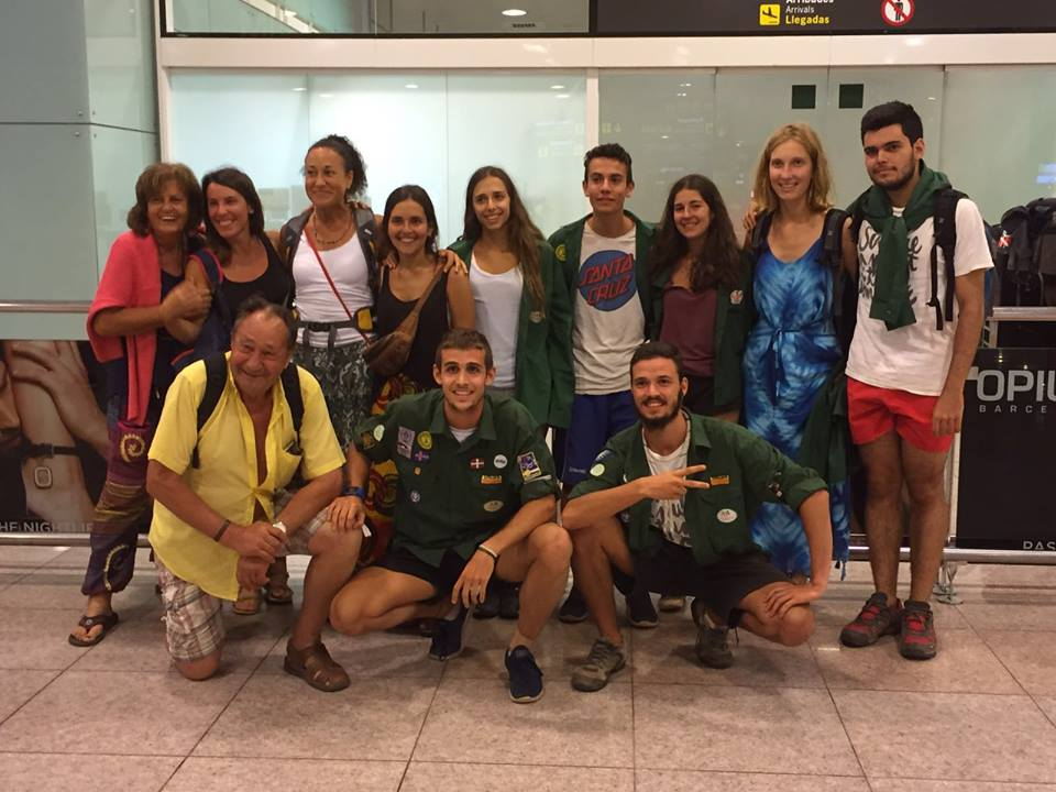 Juliol 2016: grup d'Escoltes i Guies de Barcelona Àpeiron